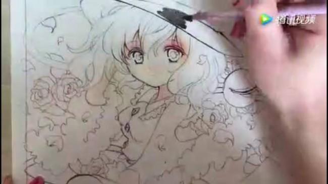 这个水彩女生的颜色太丰富了,你能hold住吗?_www.youyix.com