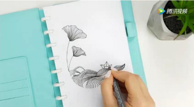 一根针管笔,一个好看的唯美图案 针管笔手绘插画教程_www.youyix.com