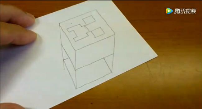 """笔画3d立体画简单_简单画出3D立体画——""""我的世界苦力怕""""表情,不止一点萌呢"""