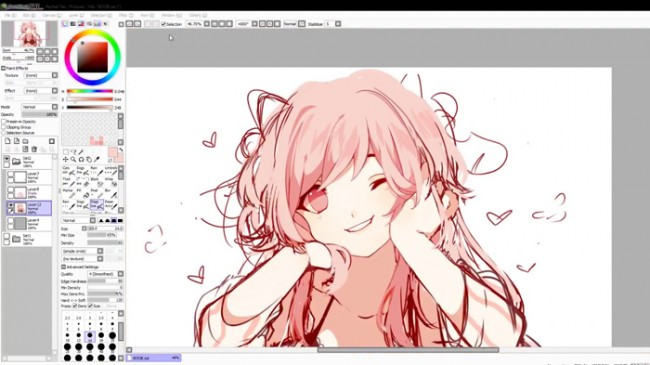 【视频】SAI板绘可爱的猫耳娘小萝莉萌妹子视频教程 熟悉上色 刻画细节_www.youyix.com