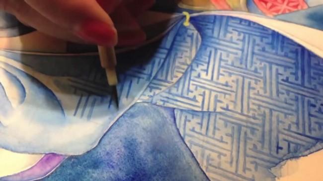 【视频】刀剑乱舞三日月宗近水彩画视频手绘教程 画法过程演示_www.youyix.com