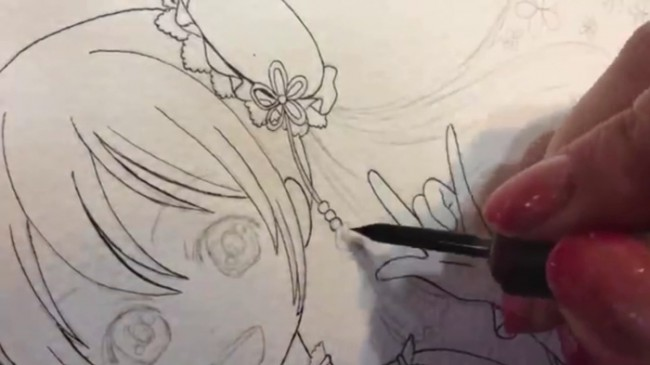 可爱的古风唐装小萝莉水彩手绘视频教程 画法演示过程