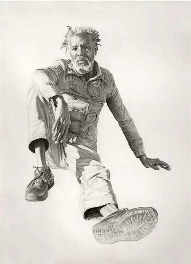 帅气素描画师Joel Daniel Phillips 系列素描人像写实作品_www.youyix.com