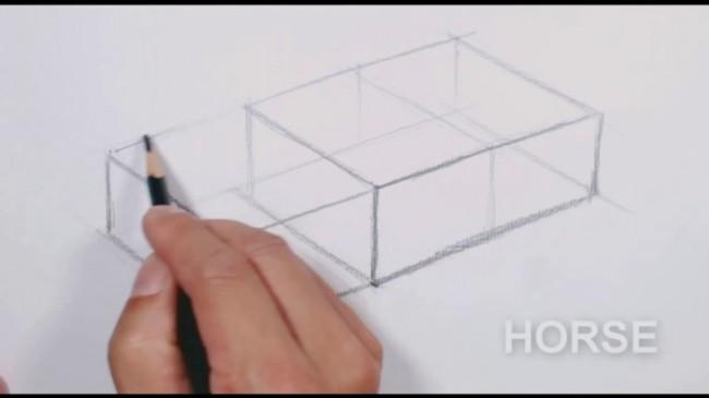 简单的长方体素描怎么画 长方体的实心和空心盒子素描画法演示图片