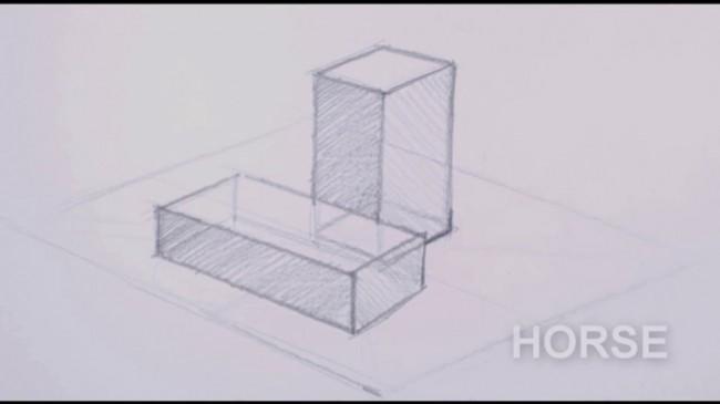 【视频】立方体几何形体的前后素描关系怎么表现?几何形体的遮挡素描画法?_www.youyix.com