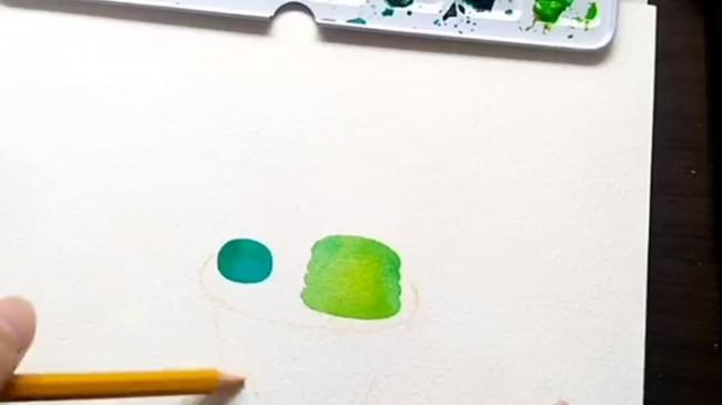 【视频】简单小清新的仙人掌盆栽水彩手绘视频教程 可爱的仙人掌怎么画?_www.youyix.com