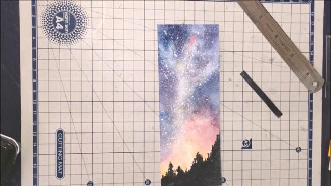 【视频】超美的水彩星空书签手绘diy制作教程 美翻了_www.youyix.com