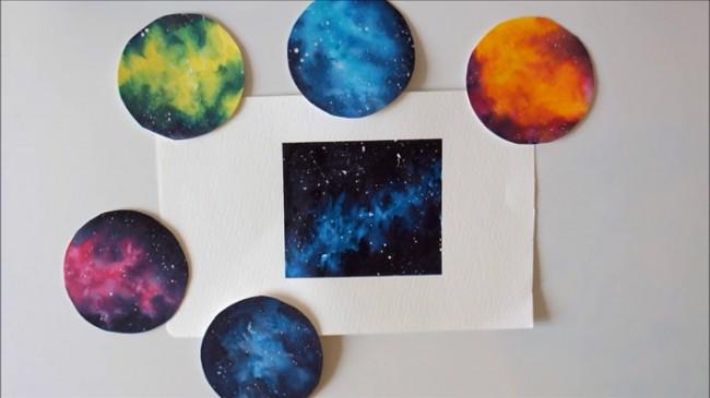 【视频】简单而唯美的星空图手绘视频教程 好看的星空画法视频教程_www.youyix.com