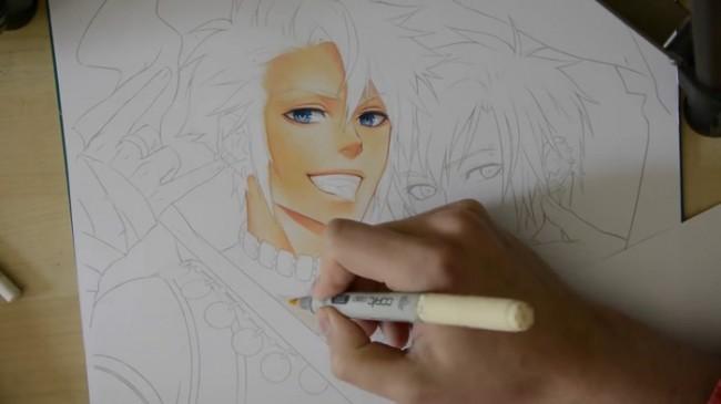 【视频】马克笔表现两个帅哥基情美男动漫插画手绘视频教程_www.youyix.com