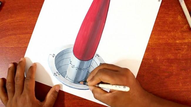 【视频】3D超写实彩铅加马克笔手绘画导弹发射井视频教程_www.youyix.com