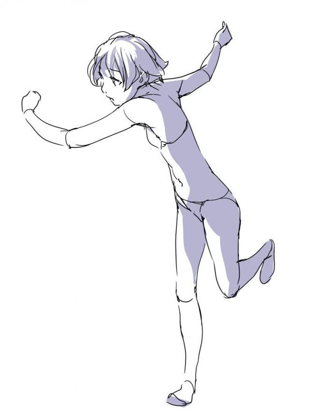 动漫画人物跑动的动作怎么画 人物奔跑动作的画法与动作要点!_www.youyix.com