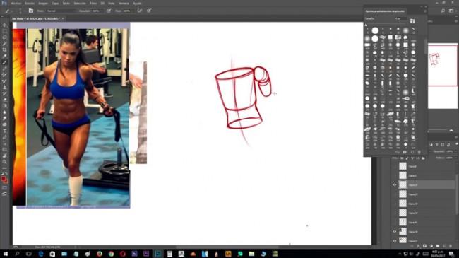 【视频】跟着维密天使学画动漫插画人物的动态 身体姿态的画法演示_www.youyix.com