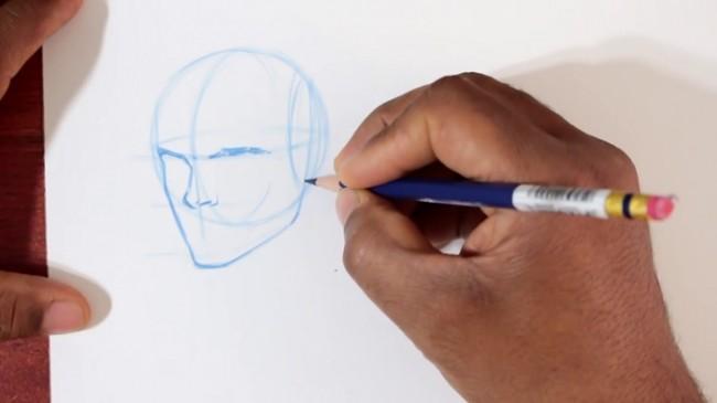 【视频】动漫人物头部的不同角度动态怎么画 教你画动漫头部技巧示范_www.youyix.com