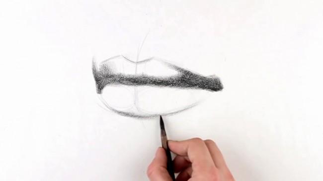【视频】素描画人物的嘴部怎么画手绘视频教程 轻松搞定嘴部的素描_www.youyix.com