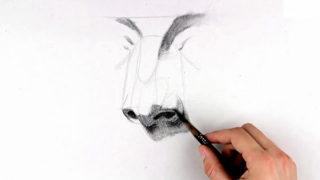 【视频】素描画人物的鼻子手绘视频教程 素描鼻子怎么画 鼻子的画法_www.youyix.com