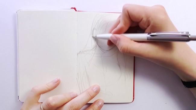 【视频】好看的女生动漫人物线稿手绘视频教程 好看性感的动漫女生画法_www.youyix.com