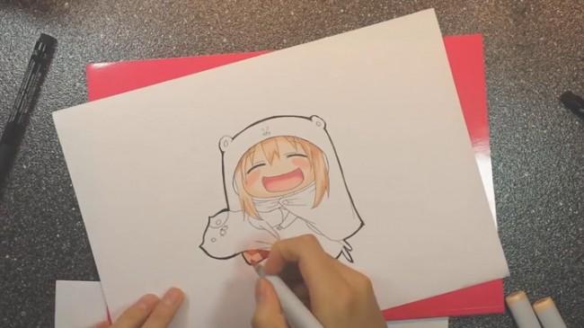 【视频】干物妹小埋马克笔上色手绘视频教程 小埋的画法视频教程_www.youyix.com