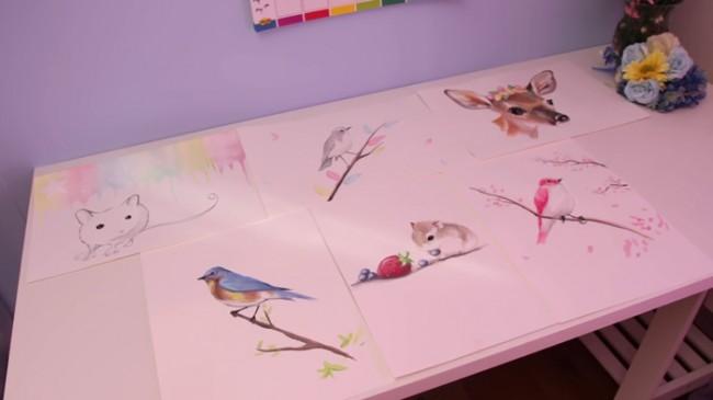 【视频】各种可爱萌的小动物水彩手绘视频教程画法 教你画可爱小动物水彩画_www.youyix.com