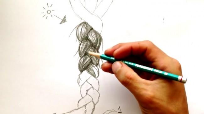【视频】素描女生的马尾辫的画法手绘视频教程 马尾辫怎么画视频_www.youyix.com