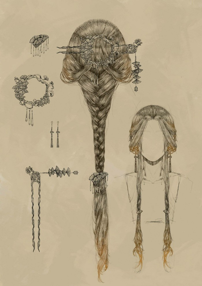 超精美的古代女性发型和配饰发簪的演示和素材 唯美古风 图片 3p 优艺星
