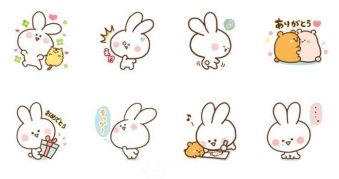 小星星吉它谱子-超多Q版可爱卡通小兔子表情素材 优艺星