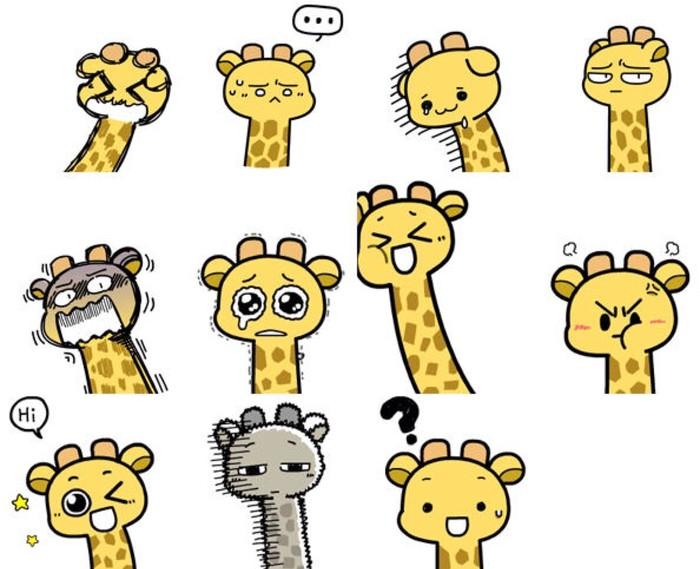 卡通长颈鹿手绘教程 长颈鹿简笔画