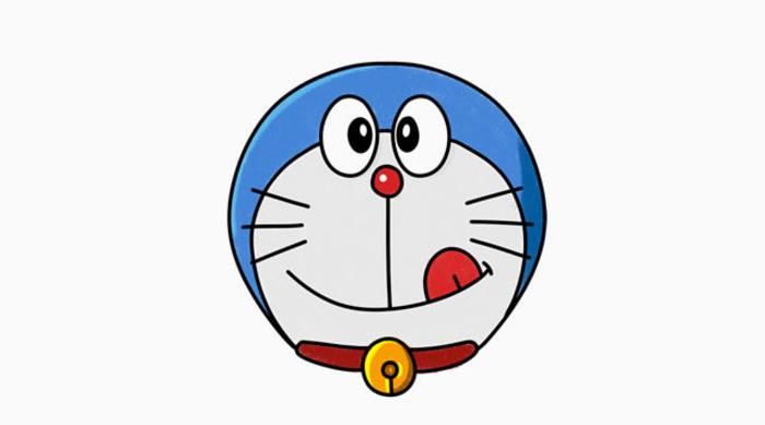 在將機器貓劃分分類的時候還真范疇了,是動物是人還是其他呢?最后還是算到動物里去吧。雖讓長得這么可愛呢。這里主要就是畫機器貓的頭部,整個一個圓球的樣子,十分的精致也十分的可愛。可以作為局部的標志和特寫用。當然如果你本身就是個機器貓迷的話就更棒了。 局部有局部的好處,會更加的專注一些。