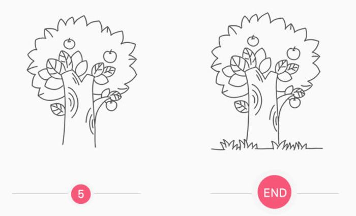 果树简笔画的画法 果树儿童画手绘线稿教程(2)
