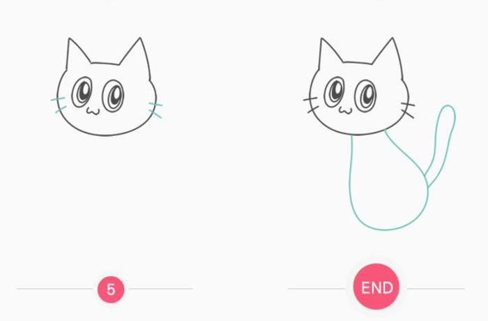 简单可爱的小黑猫怎么画 黑猫简笔画 黑色小猫儿童画卡通画画法(2)
