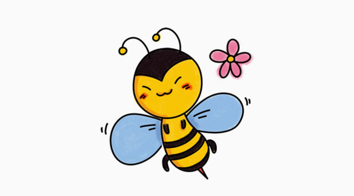 蜜蜂卡通画的画法 小蜜蜂简笔画怎么画 蜜蜂的儿童画教程画法