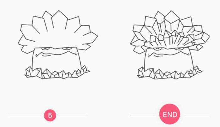 植物大战僵尸寒冰菇怎么画 寒冰菇简笔画画法 寒冰菇儿童画卡通画手绘