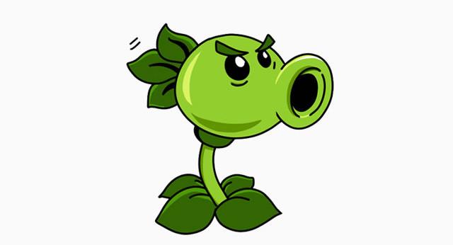 豌豆射手怎么画 连发豌豆射手简笔画 豌豆射手卡通画儿童画画法