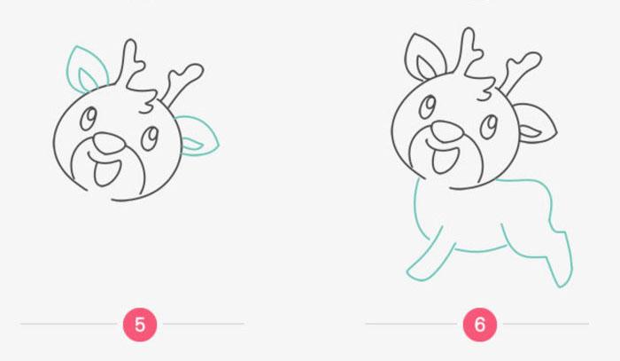 梅花鹿怎么画 梅花鹿简笔画 梅花鹿卡通画儿童画画法