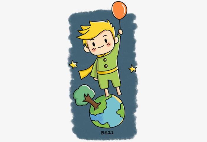 唯美的小王子漫画卡通画画法 小王子简笔画儿童画怎么