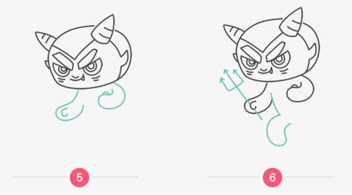 小恶魔怎么画 恶魔卡通画画法 简单的小恶魔简笔画绘画教程