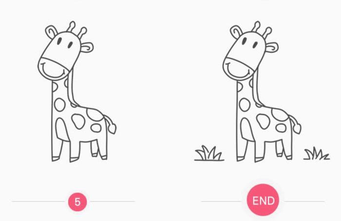 可爱长颈鹿怎么画 长颈鹿简笔画画法 长颈鹿卡通画儿童画手绘教程(2)