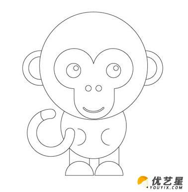 可爱小猴子怎么画 古灵精怪的美猴王简笔画画法 只需要简单4笔就可以