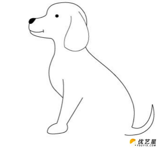 小狗的简笔画 可爱的小狗的手绘画教程