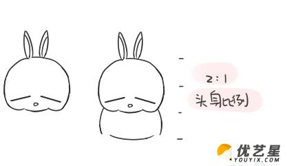 简笔画卡通流氓兔 兔子的画法教程 儿童简单易学的小兔子(2)