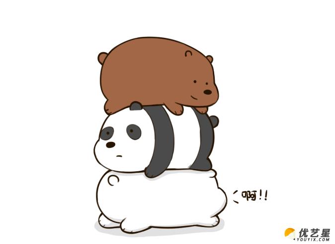 几只可爱的小熊叠在一起怎么画?叠在一起的小熊的简笔
