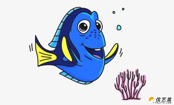 海底总动员多莉怎么画 多莉的卡通画画法 多莉简笔画手绘教程