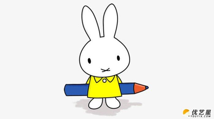 米菲兔怎么画 可爱小兔子米菲兔的画法 米菲兔简笔画卡通画教程