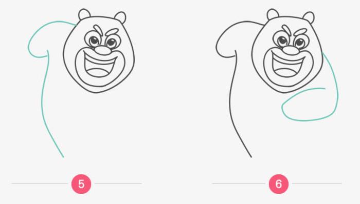 熊大怎么画 简单的熊出没熊大简笔画画法 熊大卡通画的画法