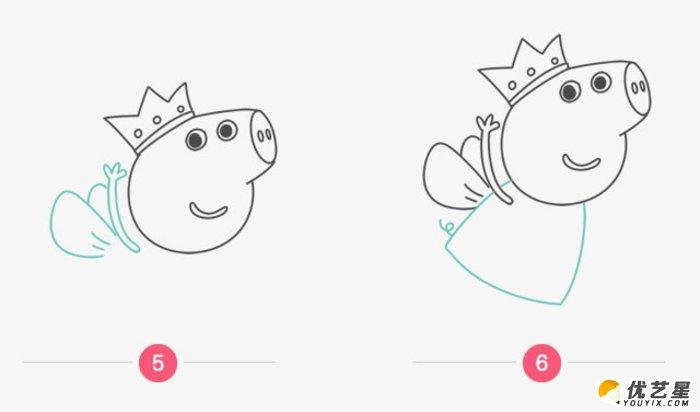 做手工也是很不错的选择哦。今天的这篇教程要跟大家分享的是小朋友们很熟悉的一部动画作品的主人翁,它就是粉红猪小妹。对于学习英语的同学应该很熟悉吧。寓教于乐的故事和教学很受孩子们的欢迎。  这款粉红猪小妹很有特色,我们通过最基本的简单元素来开始画,小朋友们都能很快上手。