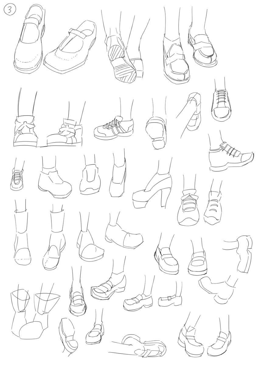 怎么绘画不同好看时尚的鞋子线稿教程 简单易懂的鞋子