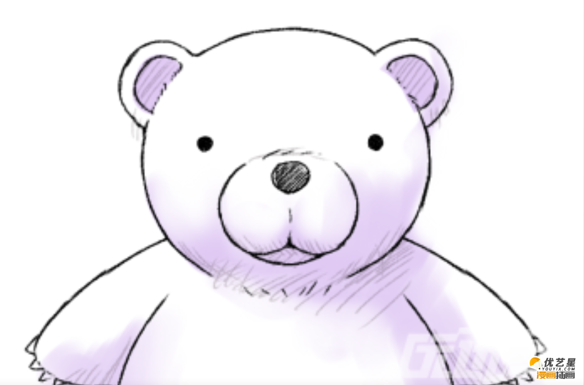 教程吧。有句网络用语是这么说的:我愿意做你永远依靠的大白。大白有着圆鼓鼓的体型,粗短的四只,圆圆的可爱的眼睛。但是,今天小编说的主角不是这只大白,,而是与它有着多处相似大方的小熊。 哈,先来一张成品插画,满屏的可爱有没有?首先我们得画一个大大的圆作为小熊的脸部,在大圆的上方左右两边画上一个小圆来作为它的耳朵。其次,在熊脸上加上眼睛,鼻子,嘴巴,这三个结构也是用圆画的哦 。最后,在耳朵,鼻子还有嘴巴加上一些重复的简略的线条,然后再给小熊上适当的颜色就完成啦。感兴趣的朋友可以自行给小熊加上身体部位还有四肢哦。