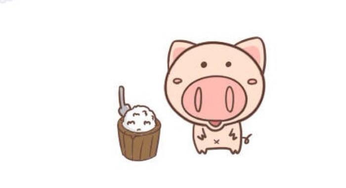可爱q版圆鼻子小猪简笔画怎么画 猪猪卡通画教程 猪的