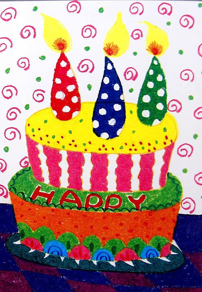 蛋糕简笔画图片大全 生日蛋糕简笔画彩色 儿童画蛋糕图片大全