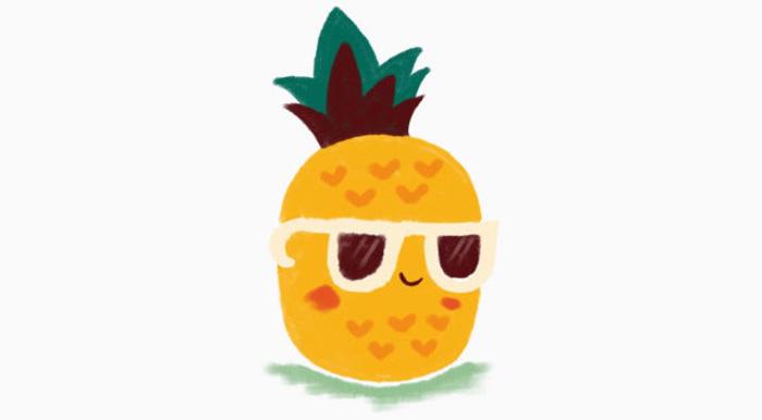 菠萝简笔画图片 菠萝怎么画简笔画 水果菠萝怎么画简笔画 菠萝画法