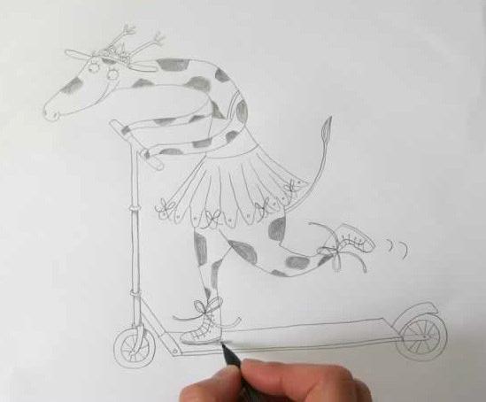 可爱长颈鹿简笔画怎么画 长颈鹿卡通画画法 长颈鹿儿童画画法教程
